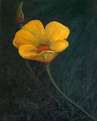 Ca Poppies Painting - California Poppy by Eileen Lighthawk