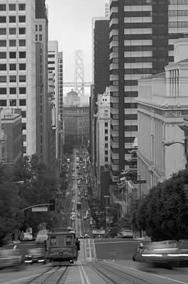 California Street San Francisco Streetcar Print by Silvio Ligutti