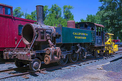 Old Trains Photograph - California Western Number 14 by Garry Gay
