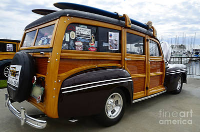 California Woodie 2 Print by Bob Christopher