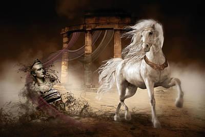 Royalty Digital Art - Caligula's Horse by Shanina Conway