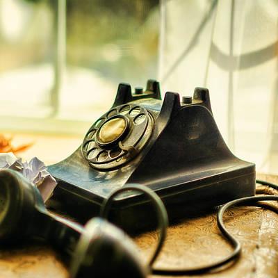 Antique Telephone Photograph - Call Waiting by Jon Woodhams
