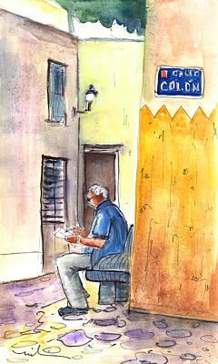 Calle Colon In Las Palmas De Gran Canaria Print by Miki De Goodaboom