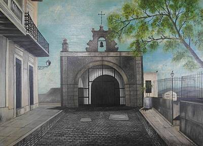 Calle Del Cristo Print by Maurice Dilan