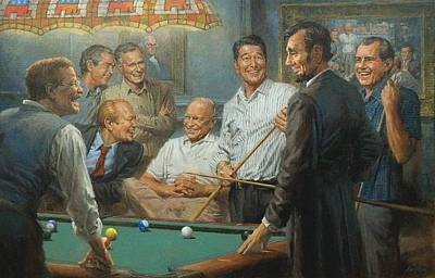 George Bush Digital Art - Callin The Blue by Andy Thomas