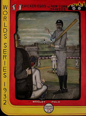 Wrigley Field Painting - Calling The Shot by Donald W White
