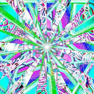 Sacred Geometry Digital Art - Callisto Cool by Derek Gedney
