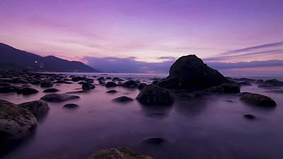 Beach Digital Art - Calm Evening by Aged Pixel