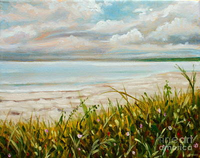 Summer Thunderstorm Painting - Calm Seas Before A Cloudburst by Hilary England
