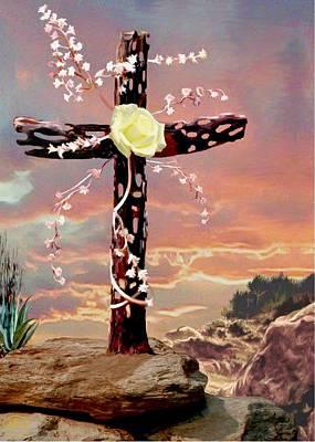 Calvary Cross Print by Ron Chambers