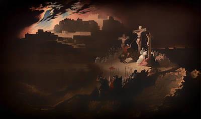 Christian Artwork Painting - Calvary by Mountain Dreams
