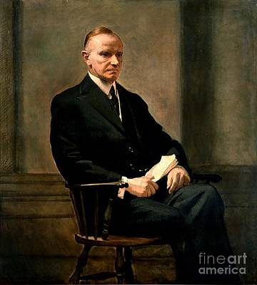 Calvin Painting - Calvin Coolidge by Charles Syndey