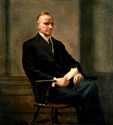 Calvin Painting - Calvin Coolidge Presidential Portrait by MotionAge Designs