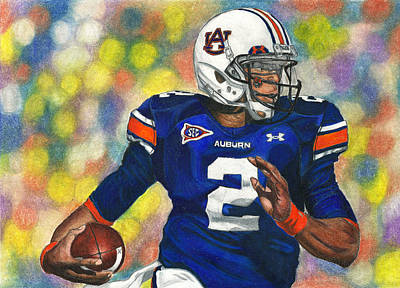 Newton Drawing - Cam Nation by Lance Curry