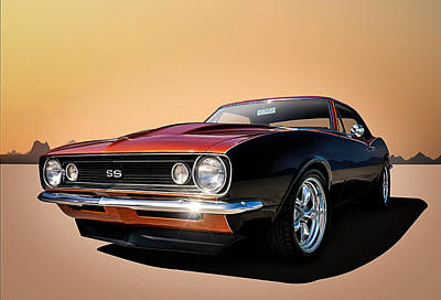 Muscle Digital Art - Camaro Ss by Douglas Pittman