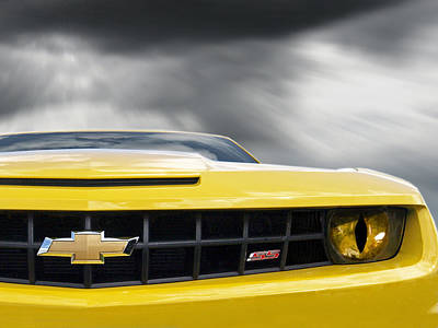 Horror Cars Photograph - Camaro Ss Evil Eye by Gill Billington