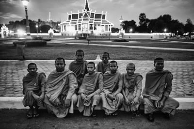 Cambodian Monks At Palace Original by David Longstreath