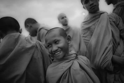 Cambodian Novice Smiles Print by David Longstreath