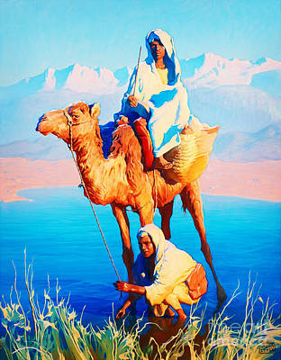 Animals Painting - Camel Driver by Celestial Images