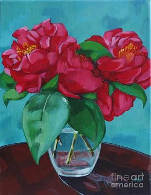 Camellia Still Life Original by Annie Pierson