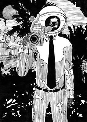 Camera Man Print by Matthew Howard
