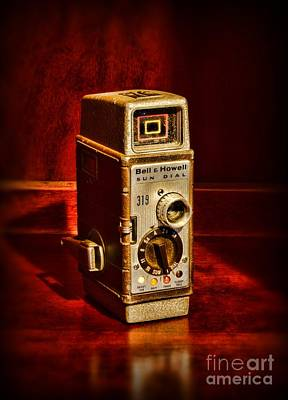 8mm Photograph - Camera - Vintage Bell And Howell Sun Dial 319 by Paul Ward