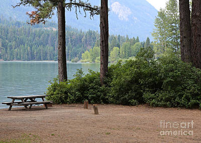 Rimrock Photograph - Camp By The Lake by Carol Groenen