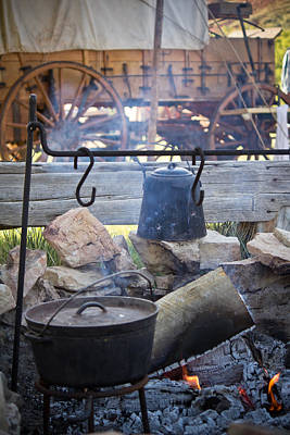 A Moment Photograph - Camp Cookin' - Willow Creek Ranch - Wyoming by Diane Mintle