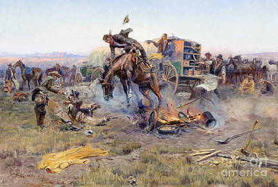 U.s.pd Painting - Camp Cooks Troubles by Pg Reproductions