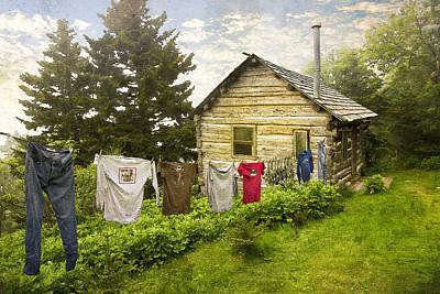 Camp Leconte Print by Debra and Dave Vanderlaan