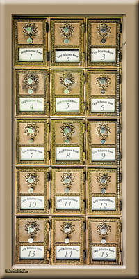 Copper Photograph - Camp Richardson Ornate Mail Boxes by LeeAnn McLaneGoetz McLaneGoetzStudioLLCcom
