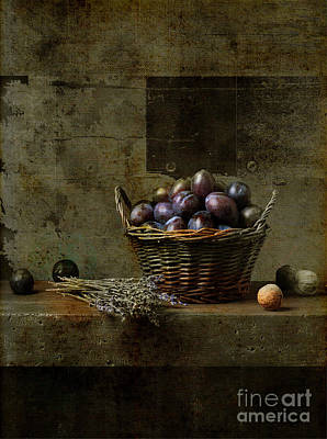 Baskets Photograph - Campagnard - Rustic Still Life - S03at01 by Variance Collections