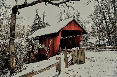 Campbells Covered Bridge Photograph - Campbell Bridge by Sonja Dover