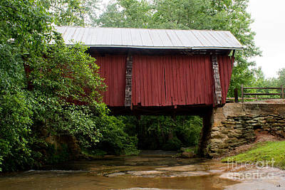 Campbells Covered Bridge Photograph - Campbell's 1909 Covered Bridage by Sandra Clark
