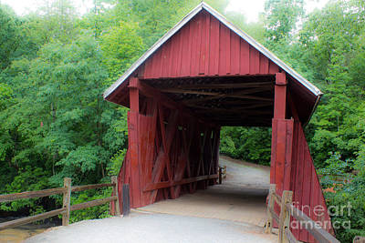 Campbells Covered Bridge Photograph - Campbell's Bridge 1909 by Sandra Clark