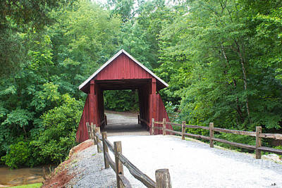 Campbells Covered Bridge Photograph - Campbell's Bridge by Sandra Clark