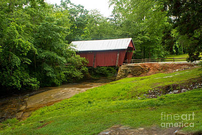 Campbells Covered Bridge Photograph - Campbell's Covered Bridge by Sandra Clark