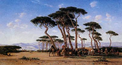 Camel Digital Art - Campement by Narcisse Berchere