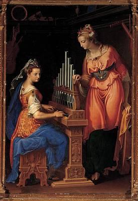 Pompous Photograph - Campi Bernardino, Sts Cecilia by Everett