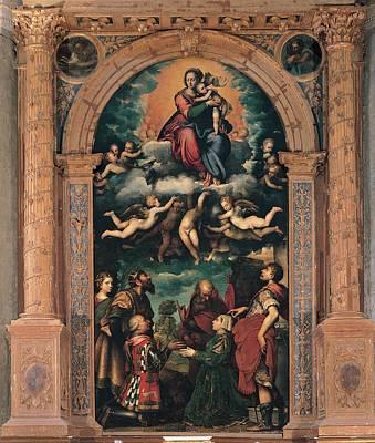 Man Holding Baby Photograph - Campi Giulio, Glorified Madonna by Everett