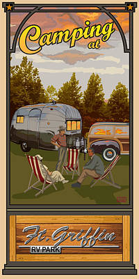Camping Digital Art - Camping Ft Griffin Rv Park by Jim Sanders