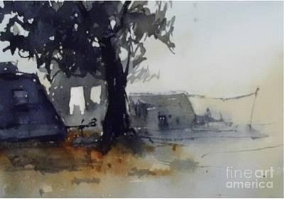 Watercolour Painting - Camping II by Paez De Pruna