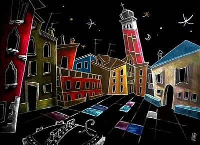 Venecia Drawing - Campo Sant'angelo - Fine Art Venice Drawings by Arte Venezia