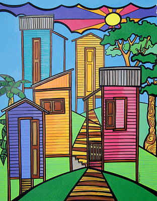 Colorfull Painting - Campos De Borinquen by Mary Tere Perez