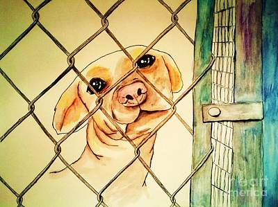 Animal Shelter Painting - Can You Take Me Home by Esther Rowden