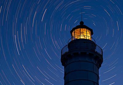 Cana Island Lighthouse Solstice Original by Steve Gadomski