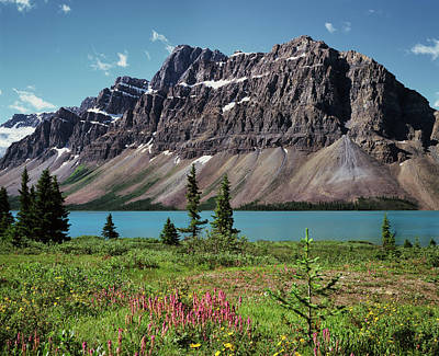 Bow Lake Photograph - Canada, Alberta, Banff National Park by Christopher Talbot Frank