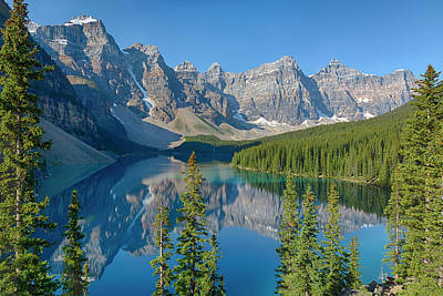 Moraine Lake Photograph - Canada, Banff National Park, Valley by Jamie and Judy Wild