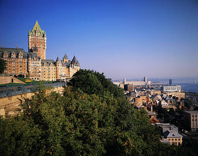 Chateau Photograph - Canada, Quebec, Quebec City, Chateau by Walter Bibikow