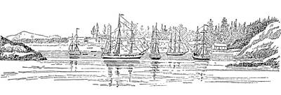 Friendly Drawing - Canada Vancouver, 1791 by Granger